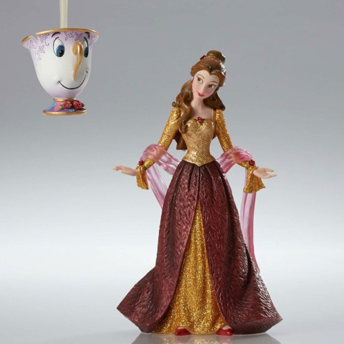 Disney Beauty and the Beast Christmas Belle and Chip couture de force