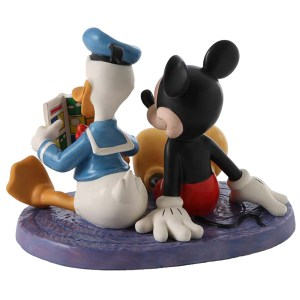 Disney Classics Donald and Mickey figurine Comic Book Companions back view