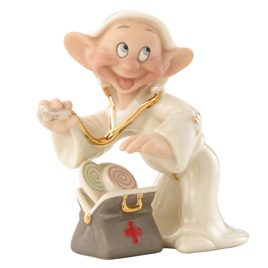 Dopey as a doctor by Lenox Well Wishes Figurine