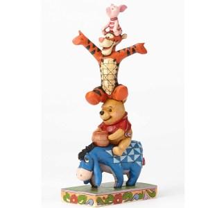 Eeyore Pooh Tigger Piglet stacked Jim Shore
