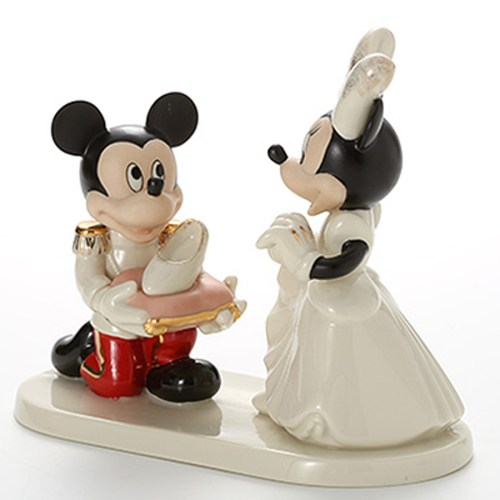 Minnie's Prince Charming Lenox figurine side view