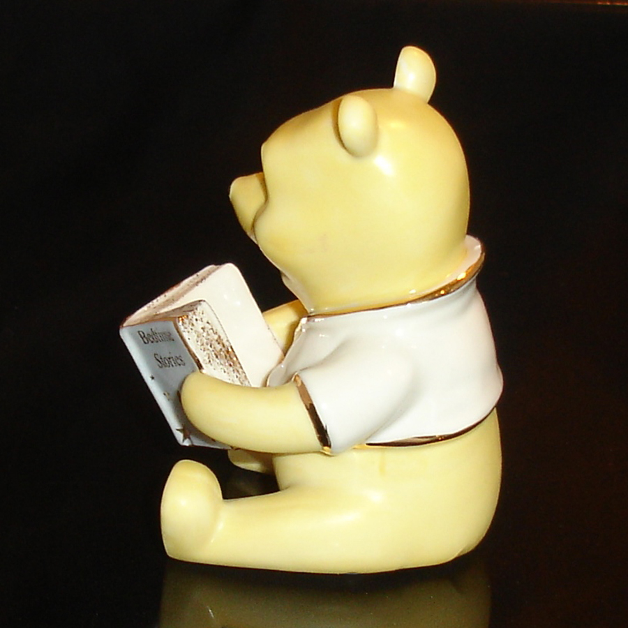Pooh with Book Lenox left side