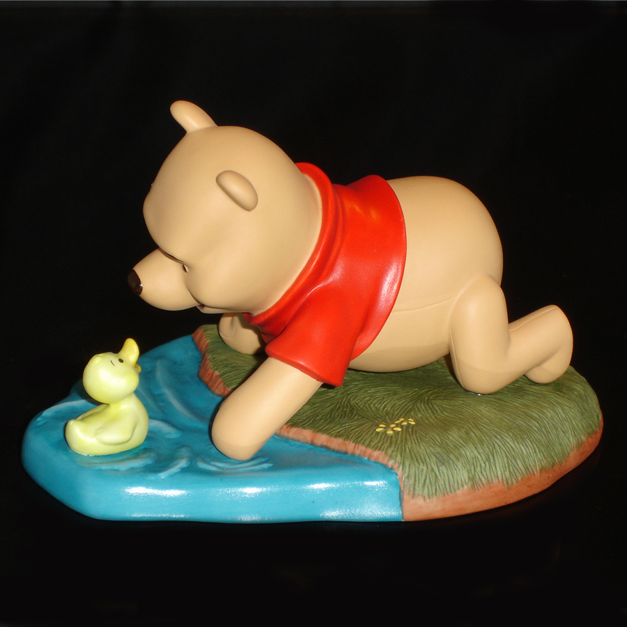 Winnie the Pooh with Duck left side view