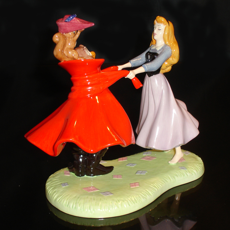 Sleeping Beauty Woodland Waltz Royal Doulton back-view
