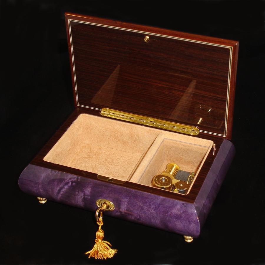 Italian-Musical-Jewelry-Box-02A-Purple-opened-no-cover