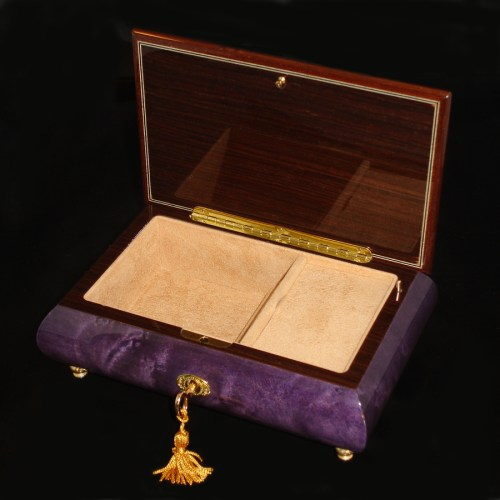 Italian-Musical-Jewelry-Box-02A-Purple-opened