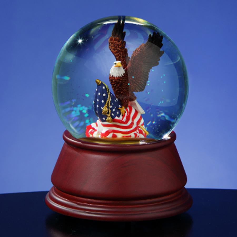 American-Eagle-Musical-Water-Globe