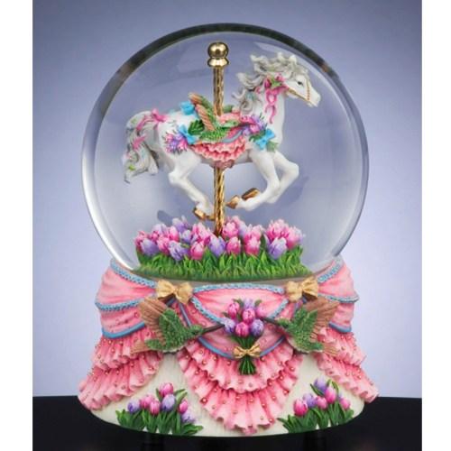 Carousel-and-Hummingbird-musical-water-globe