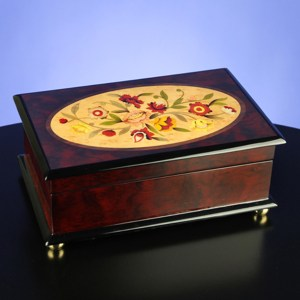 Classic-Floral-Musical-Jewelry-Box