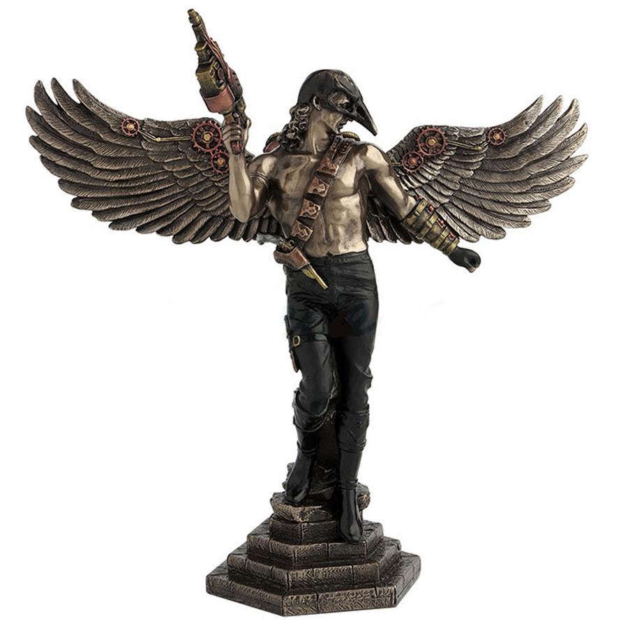 Steampunk-Crow-Masked-Warrior-figurine
