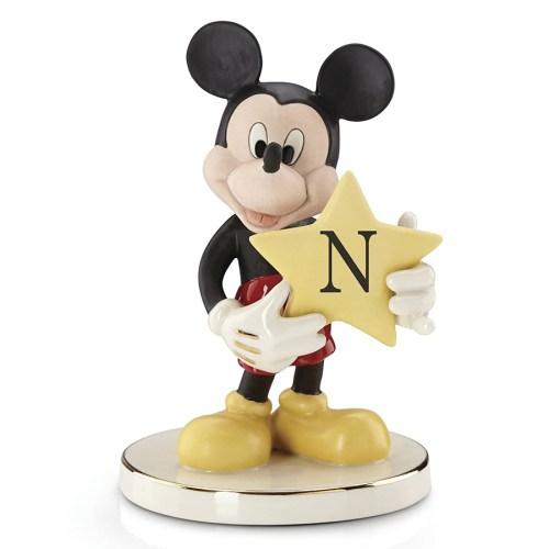 Mickey-figurine-Shining-Star-letter-N-Lenox