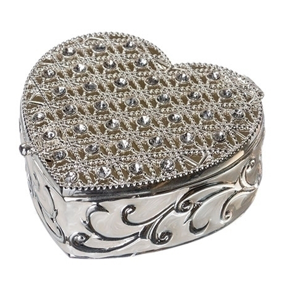 Silver-Jeweled-Heart-Box