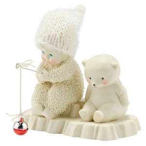 Snow Baby Bait and Wait figurine