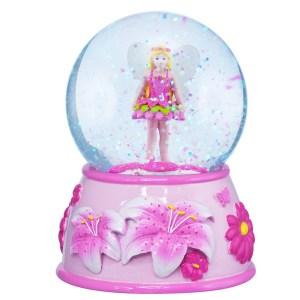 Flower Fairy Musical Snow Globe