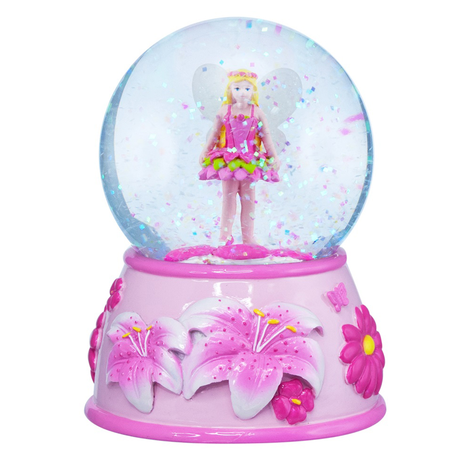 Flower Fairy Musical Snow Globe