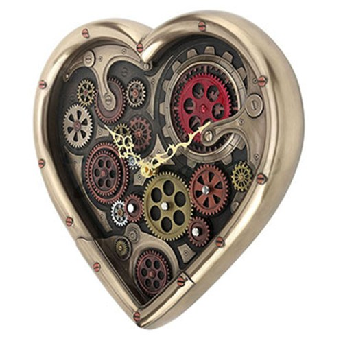 Heart-Shaped-Steampunk-Clock-side-view