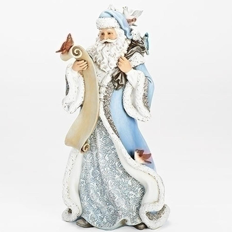 Blue-Santa-with-List-figurine