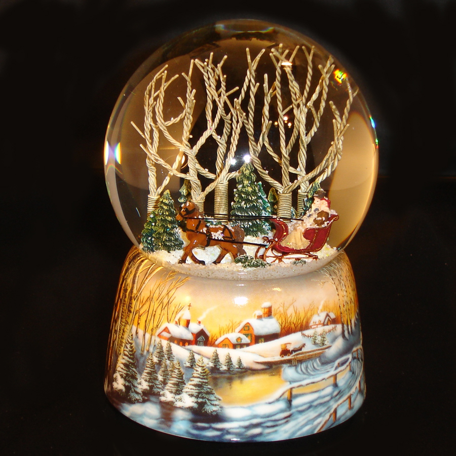 Sleigh-Ride-Snow Globe