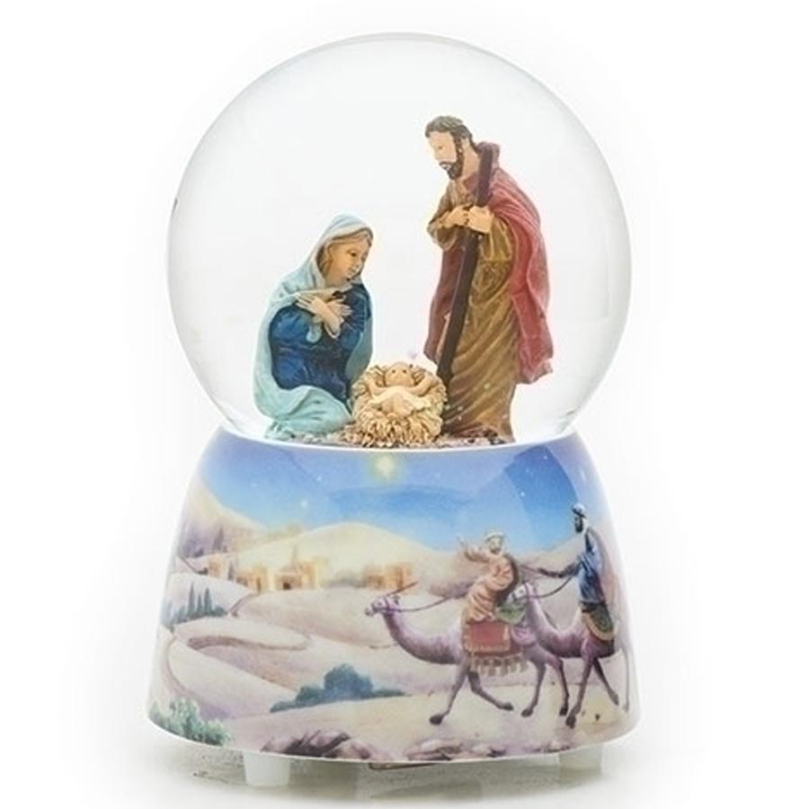 Nativity-Globe-Light-Blue-Base