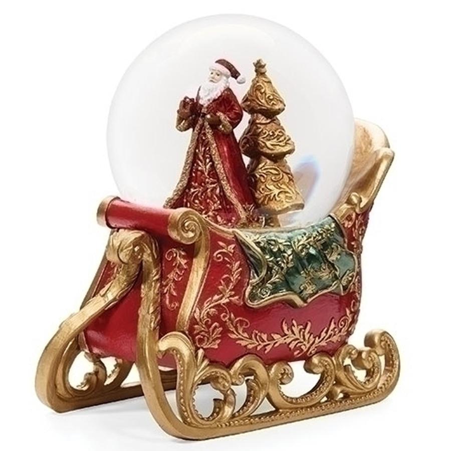 Santa-in-Sleigh-Snow-Globe
