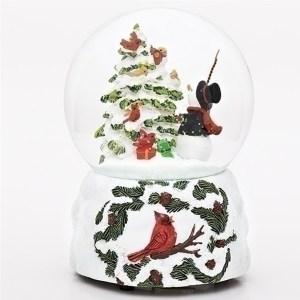 Snowman-Cardinal-Tree-Snow-Globe
