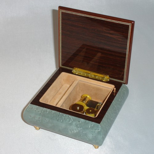Italian Inlay Jewelry Box 17CVM-Light-Blue-open-no-cover