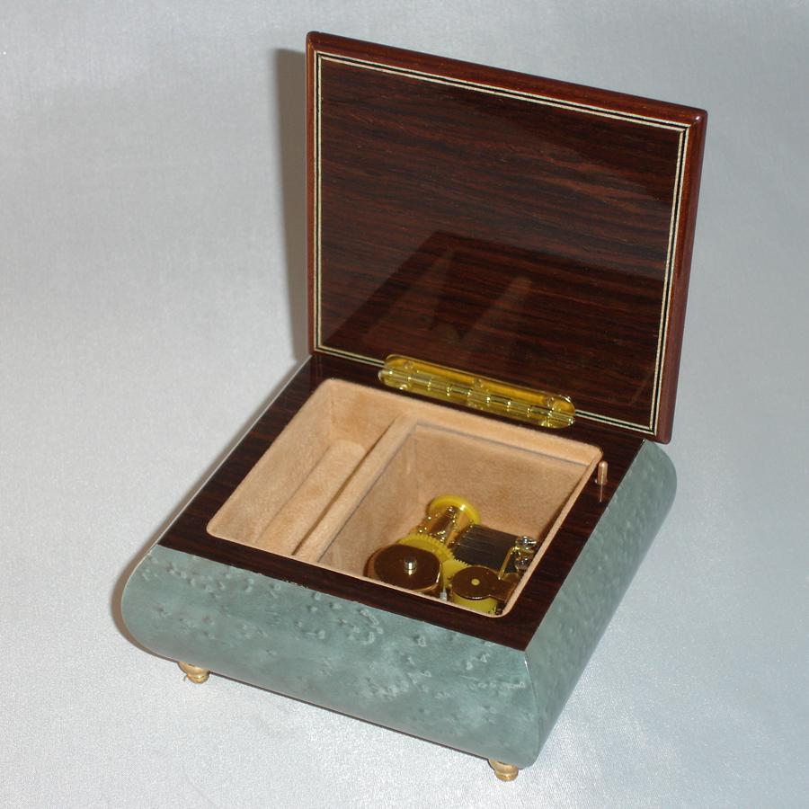 Italian Inlay Jewelry Box 17CVM-Light-Blue-open-no-cover