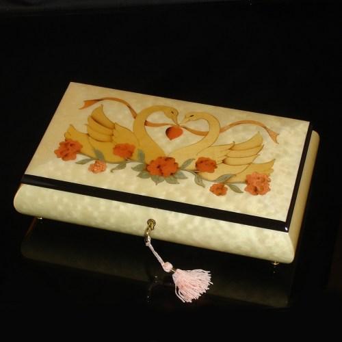 Italian-Inlay-Jewelry-Box-Swans