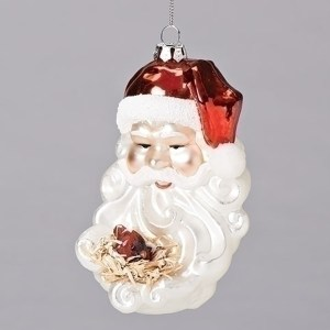 Santa-Bird-Nest-Ornament