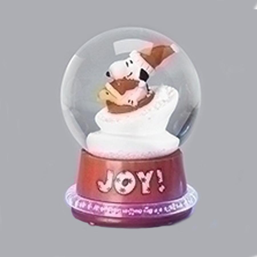 Snoopy-Neon-Mini-Snow-Globe-Red