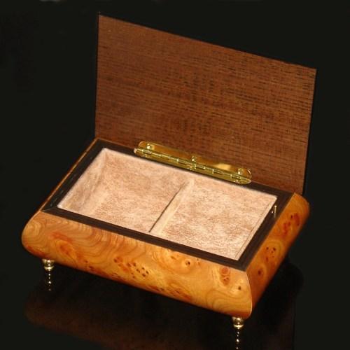 Italian-Jewelry-Box-Elm-Rosewood-open