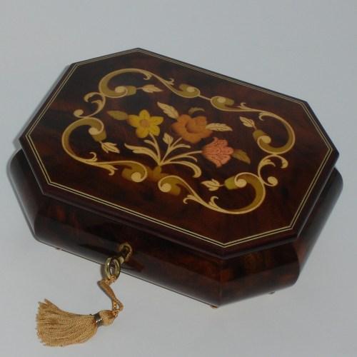 Italian-Inlay-Musical-Jewelry-Box-Walnut-Octagon
