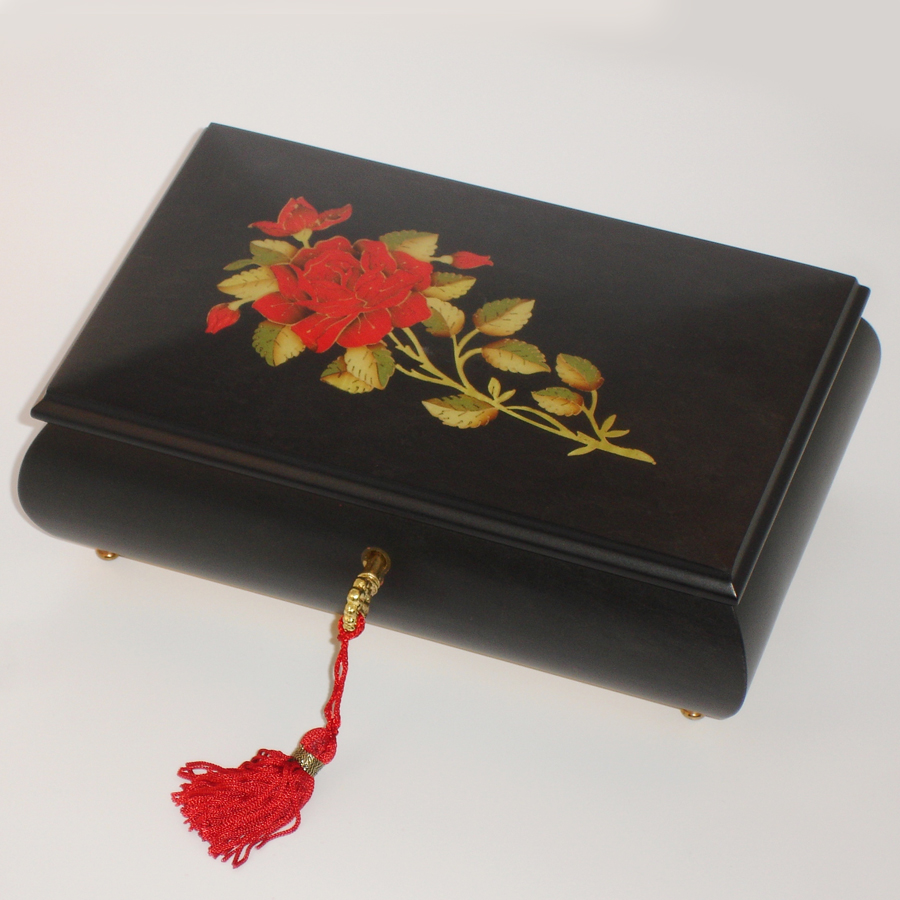 Italian-Inlay-Jewelry-Box-Red-Rose-Black