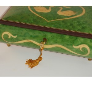 Italian-Inlay-Swans-and-Heart-Green-front