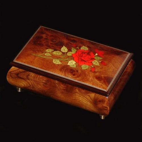 Italian-Inlay-Musical-Jewelry-Box-Red-Rose-Elm