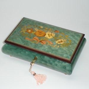 Italian-Inlay-Musical-Jewelry-Box-Sea-Foam-Green