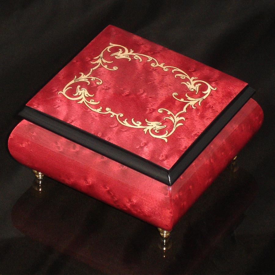 Italian-Inlay-Musical-Ring-Box-Wine-Red