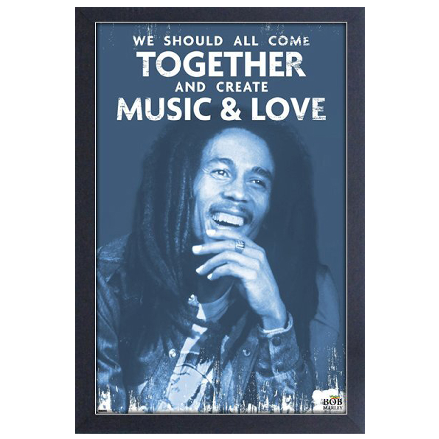 Bob-Marley-Music-and-Love-Framed-Print