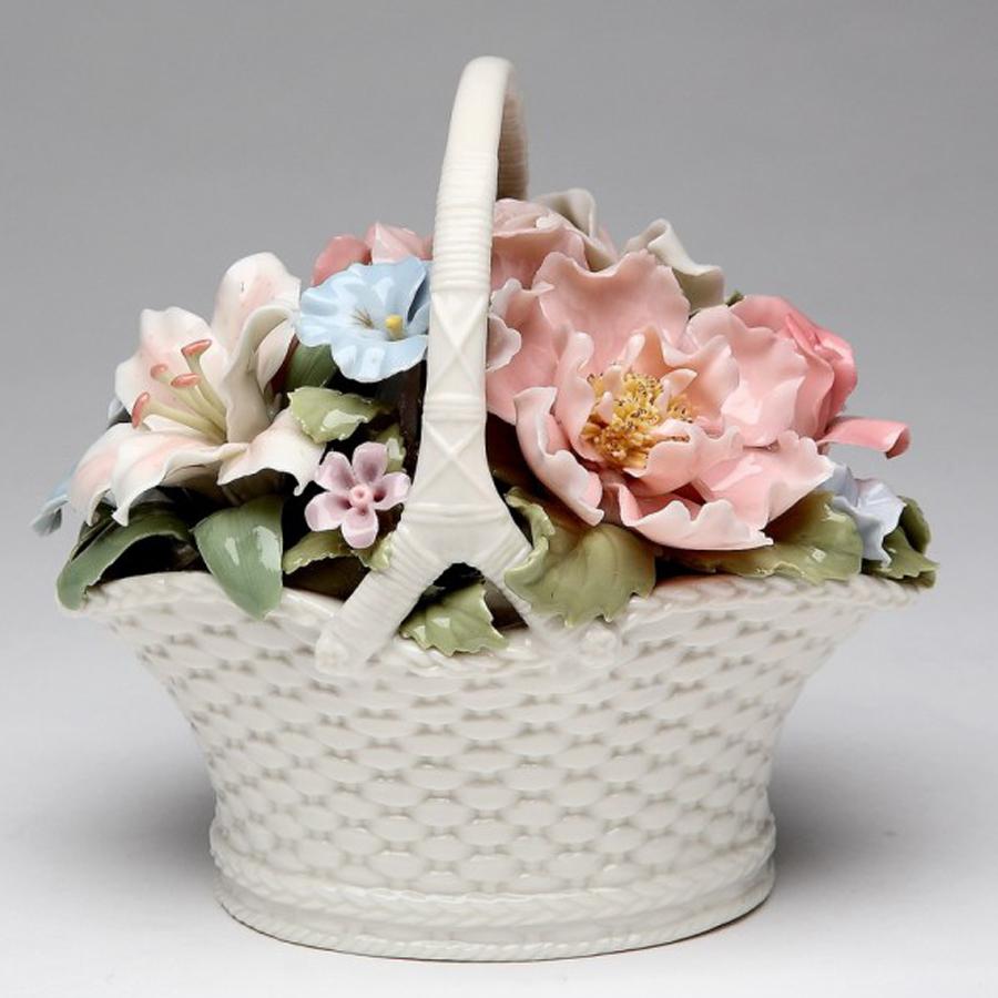 Flower-Basket-Porcelain-Musical