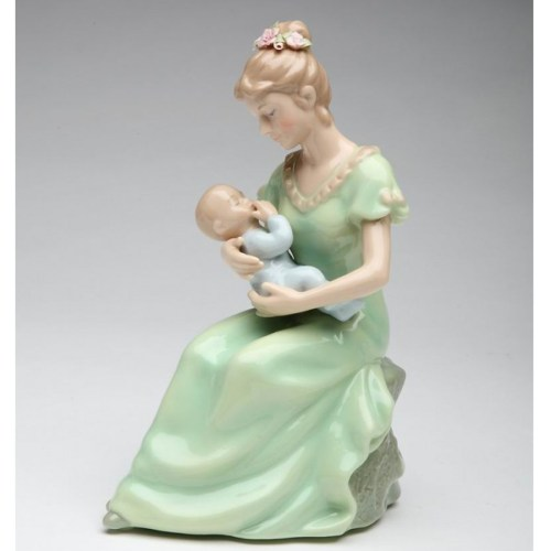 Mom-and-Baby-Boy-Porcelain-Musical