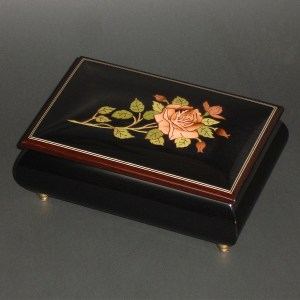 Italian-Inlay-Musical-Jewelry-Box-Pink-Rose