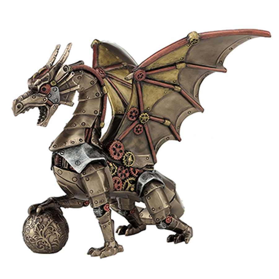 Steampunk-Dragon-and-Sphere-back-view