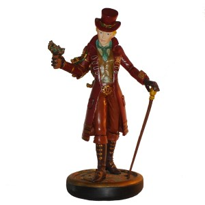 Steampunk-Girl-figurine-front