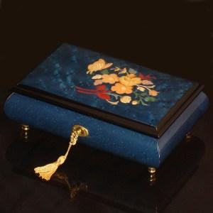 Italian-Inlay-Musical-Jewelry-Box-Butterfly-Blue