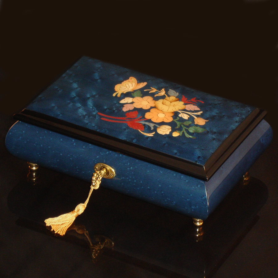 Italian-Inlay-Musical-Jewelry-Box-Butterfly-Blue