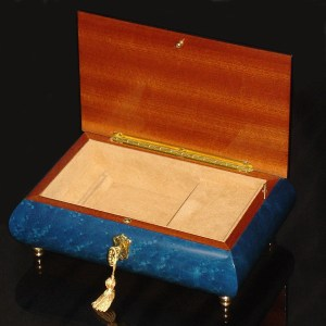Italian-Inlay-Musical-Jewelry-Box-Blue-open