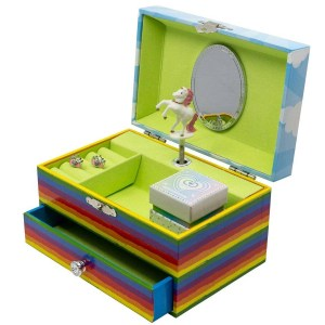 Unicorn-Rainbow-Musical-Jewelry-Box-open-2