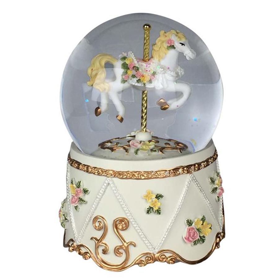 Musical-Carousel-Snow-Globe
