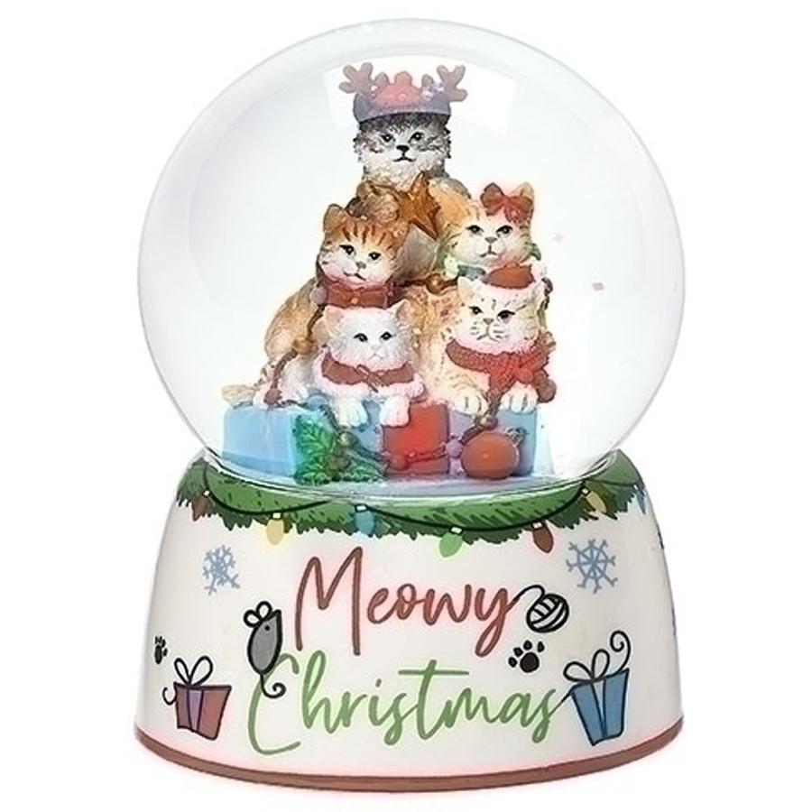 Cats-Christmas-Snow-Globe
