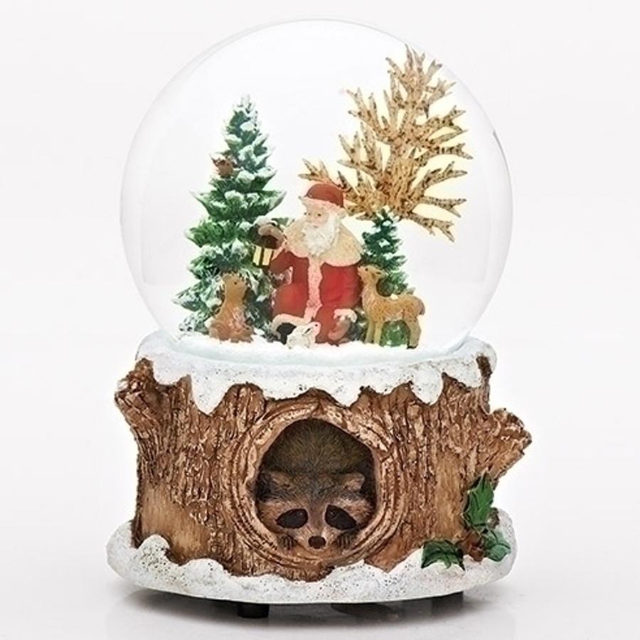 Santa-with-Animals-Snow-Globe